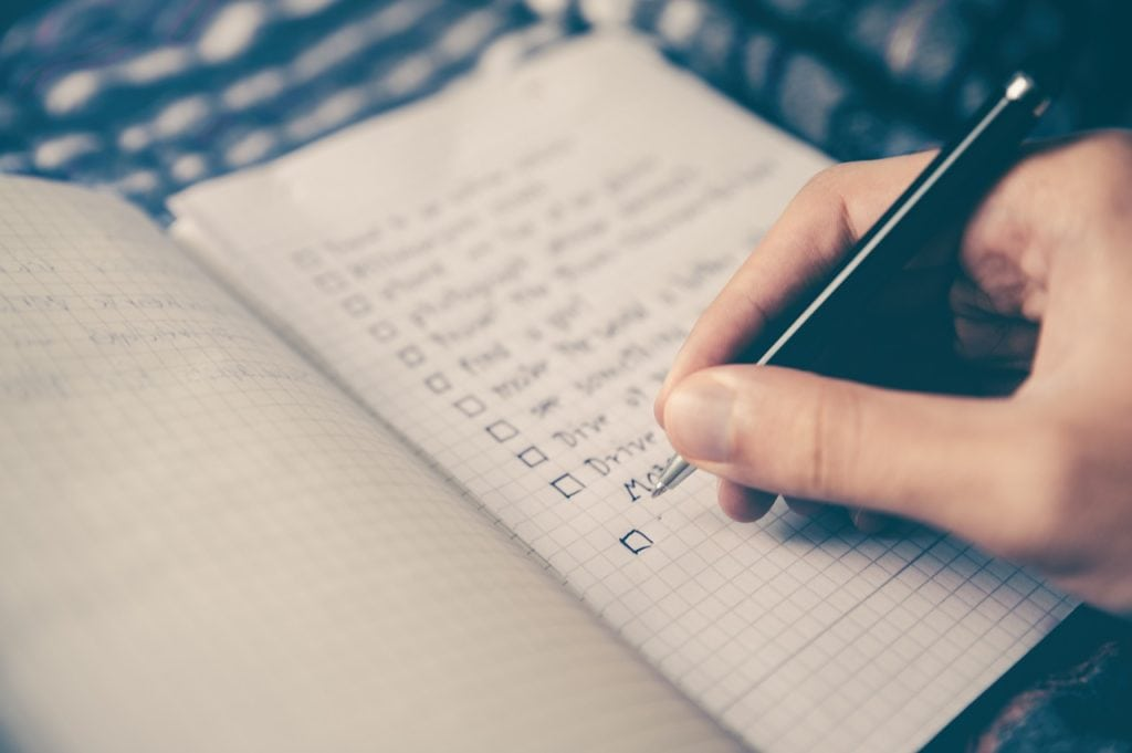 The list to check to prepare your trek