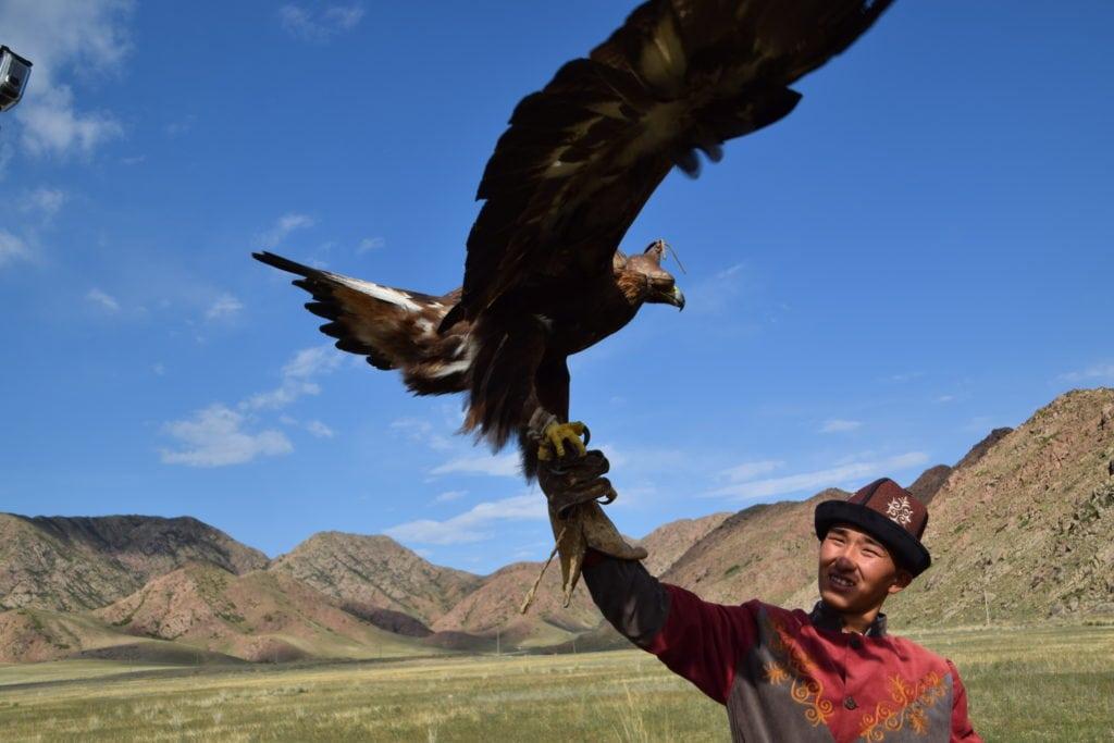 fauconnier avec son aigle