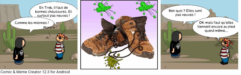 Trek de Monsieur Philippe #13 - anecdote de chaussures en trek