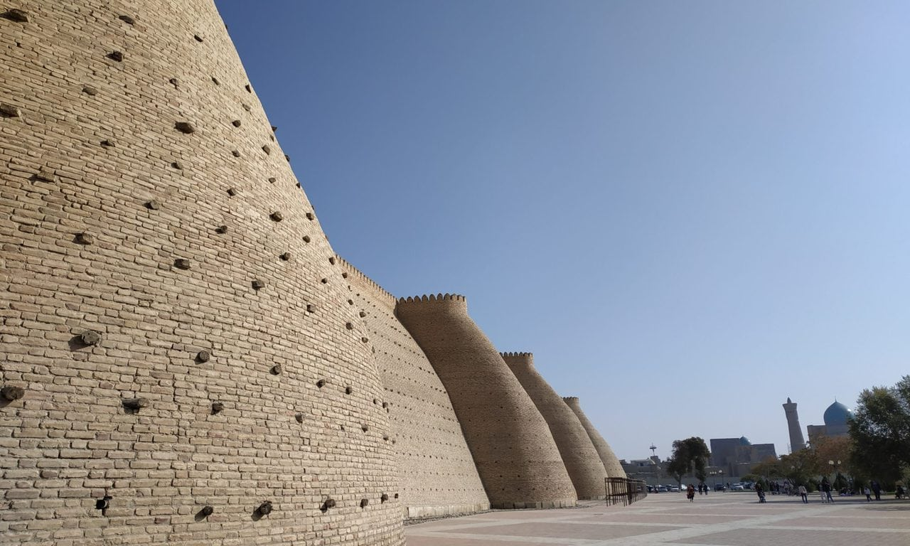 ramparts of the Bukhara fortress