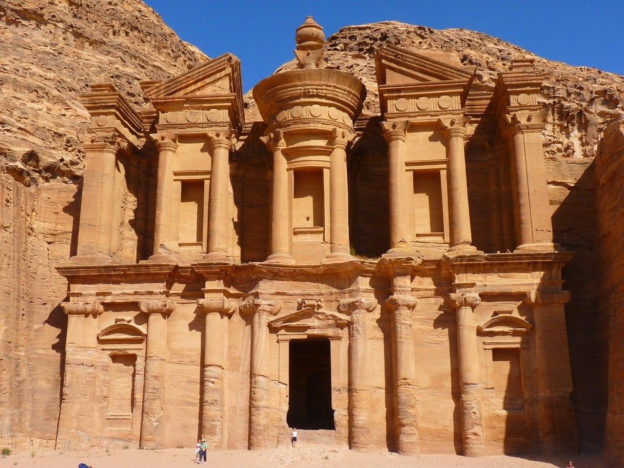 Le site de Petra en Jordanie