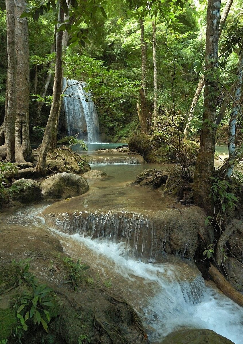Cascade d'Erawan en Thailande