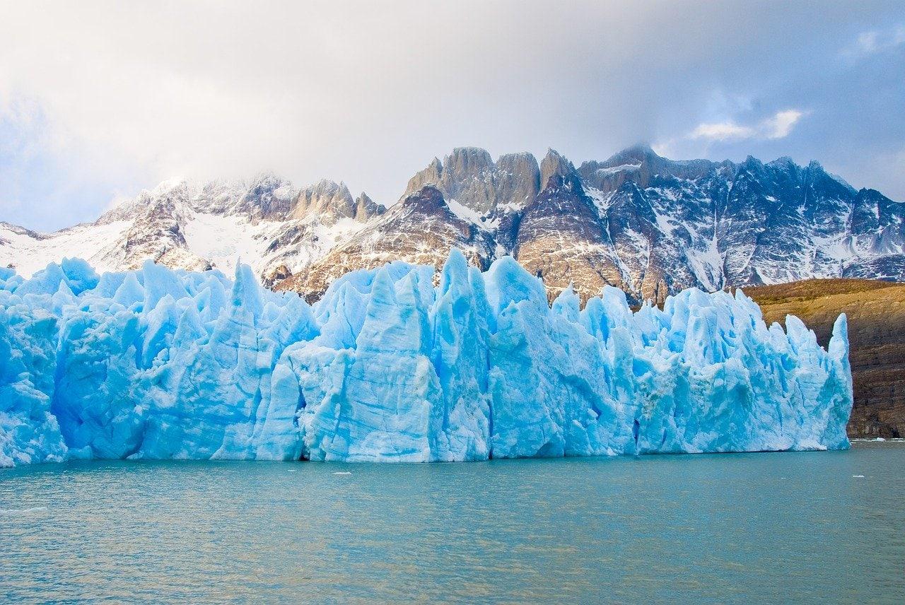 Glacier à Torres del Paine au Chili