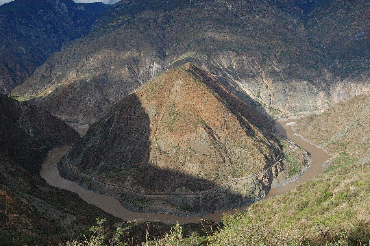 le fleuve Yangtse au Yunnan en Chine