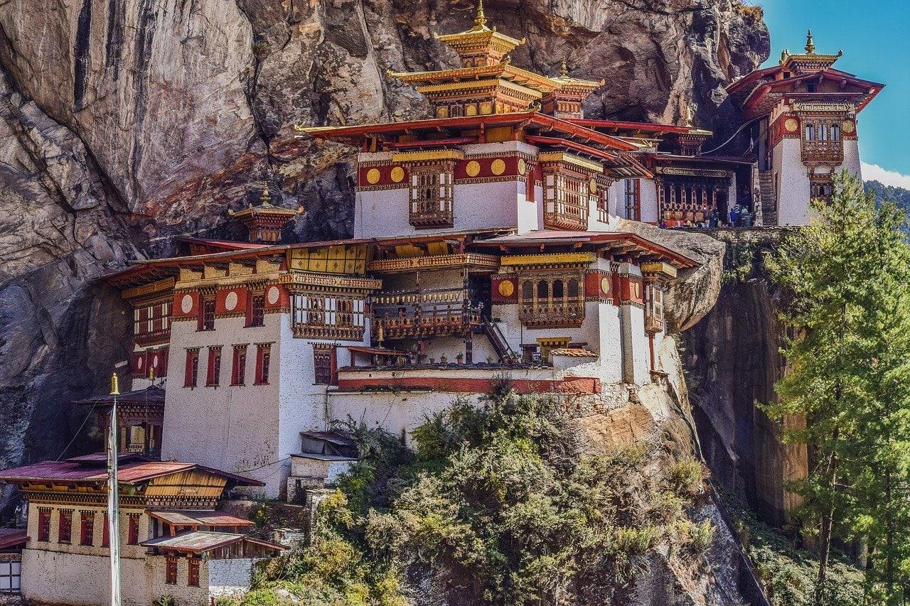 Monastère du nid du tigre à Paro au Bhoutan