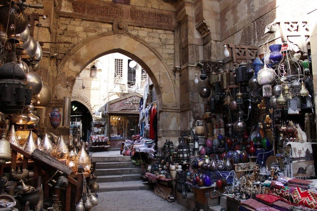 walking in the Cairo bazaar