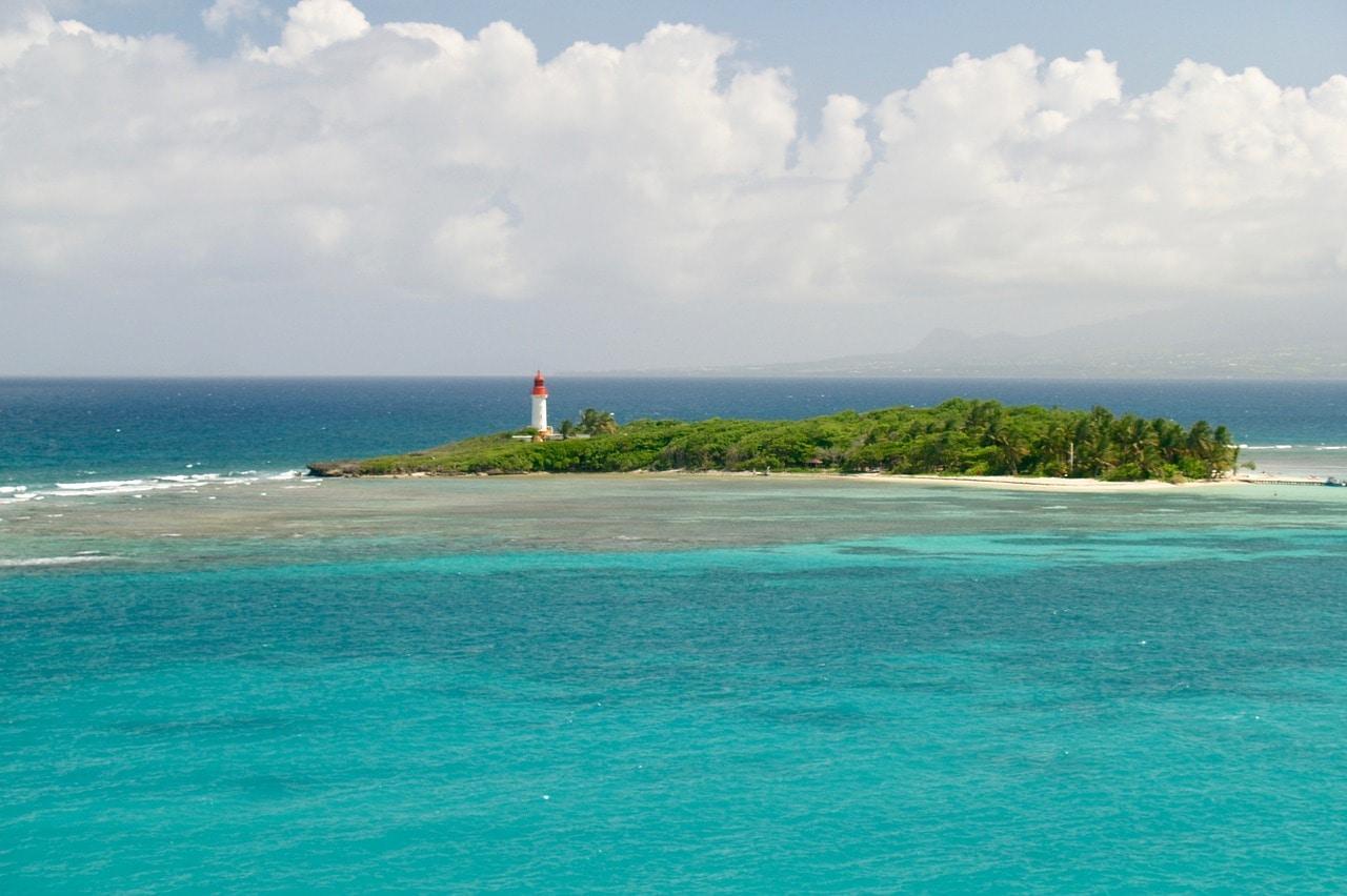 Phare de l'île de gosier en guadeloupe